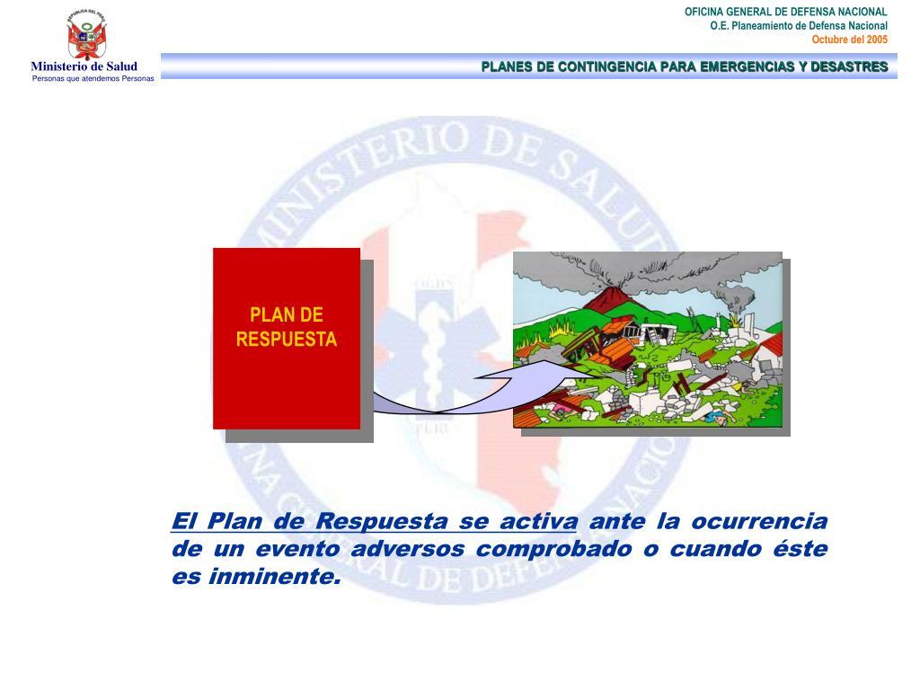 PLAN DE RESPUESTA