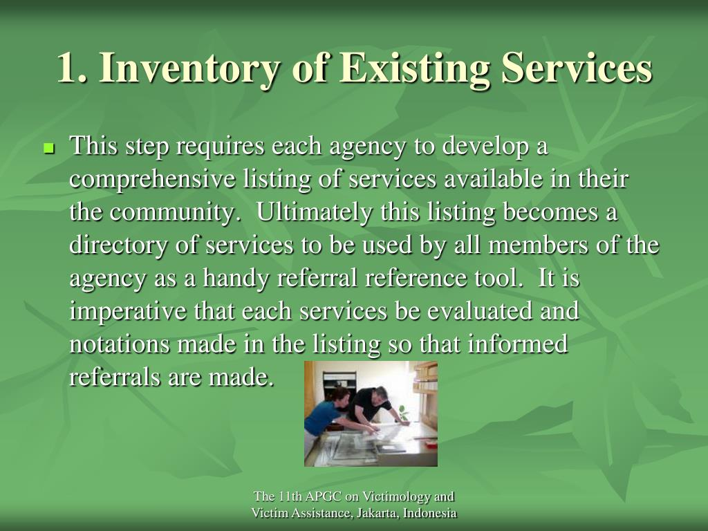 1. Inventory of Existing Services