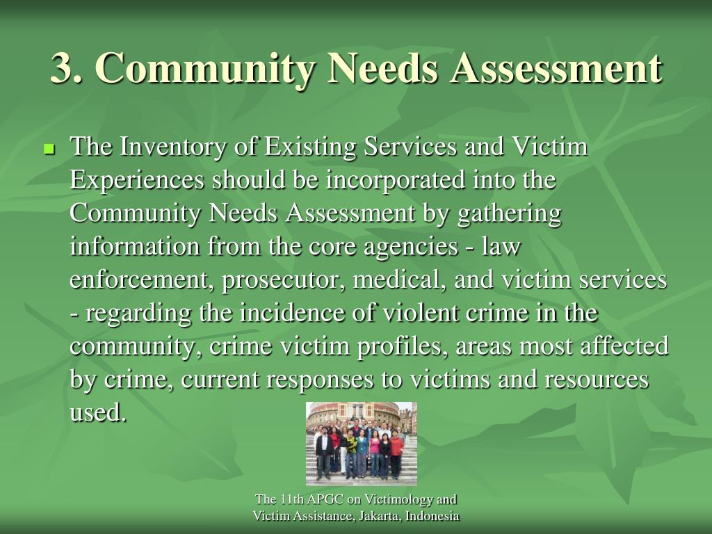 3. Community Needs Assessment