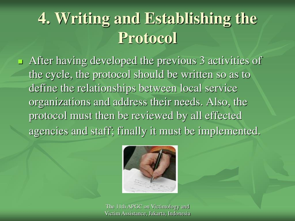 4. Writing and Establishing the Protocol