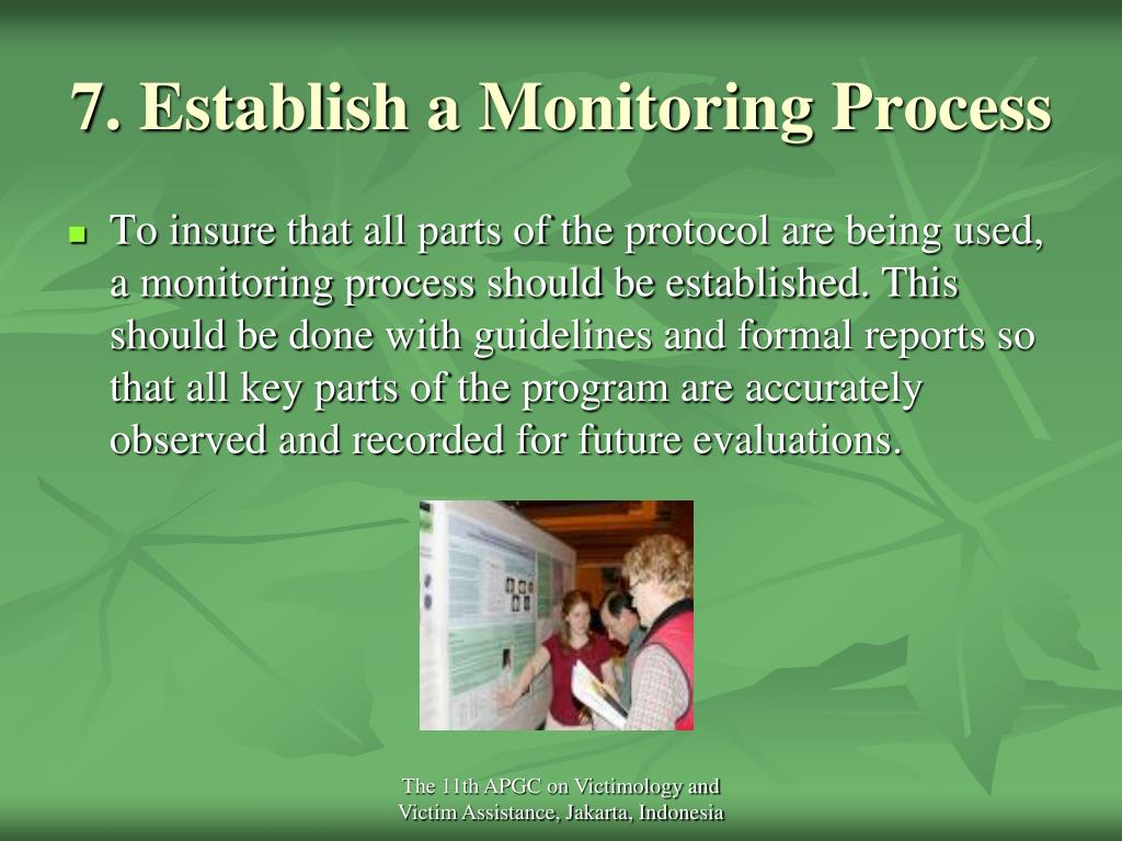7. Establish a Monitoring Process