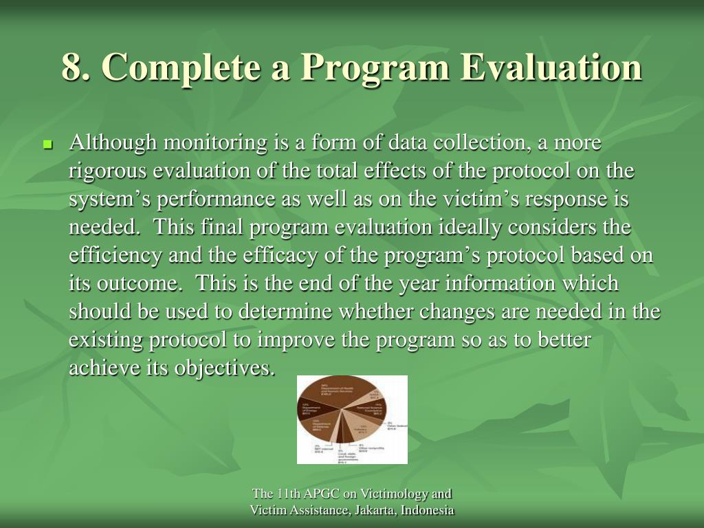 8. Complete a Program Evaluation