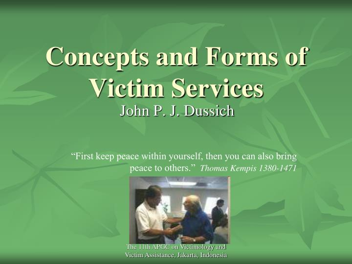 Concepts and forms of victim services l.jpg
