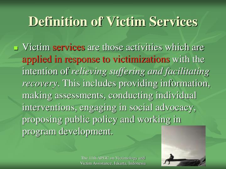 Definition of victim services l.jpg