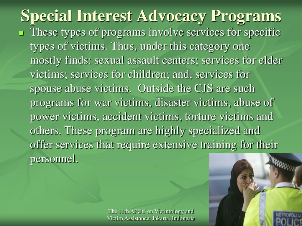 Special Interest Advocacy Programs
