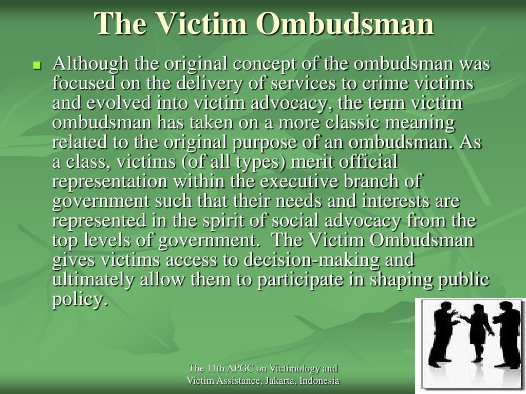 The Victim Ombudsman