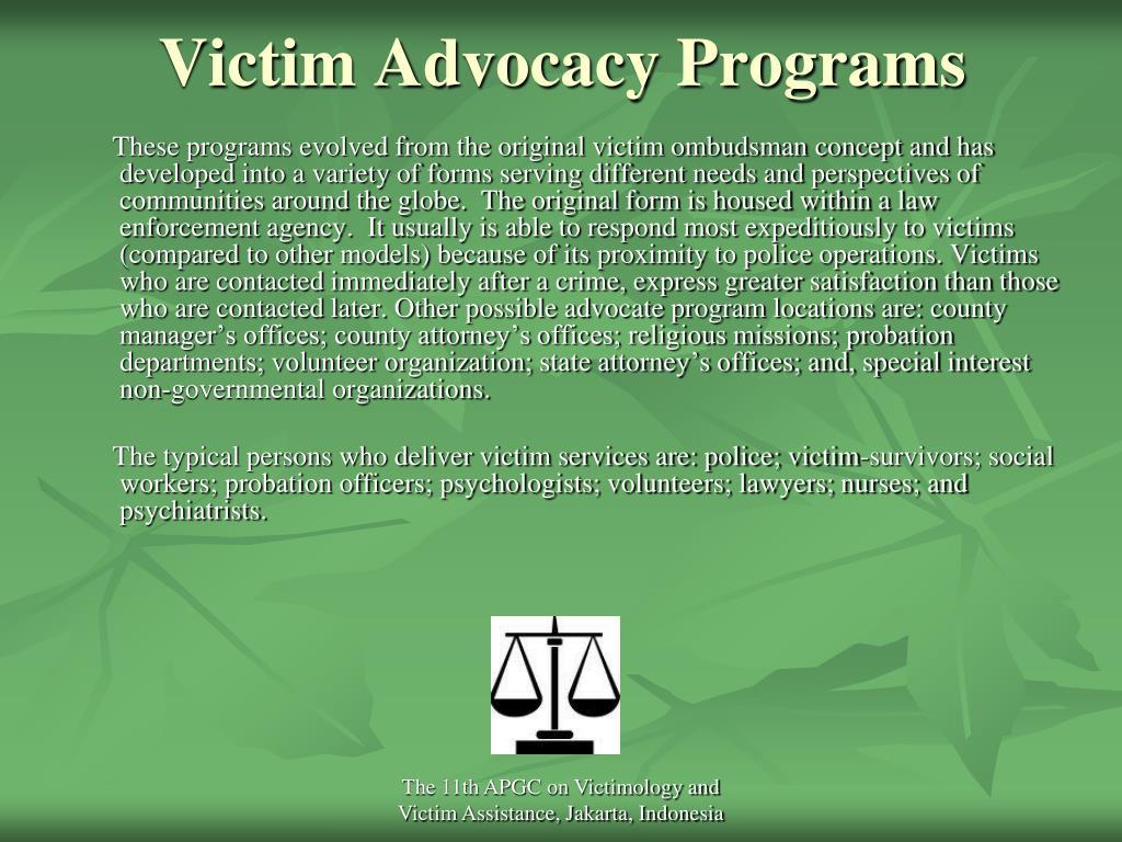 Victim Advocacy Programs