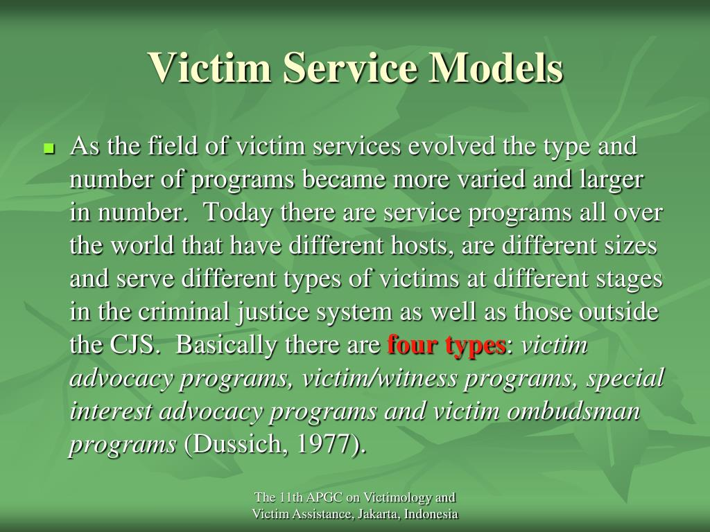 Victim Service Models