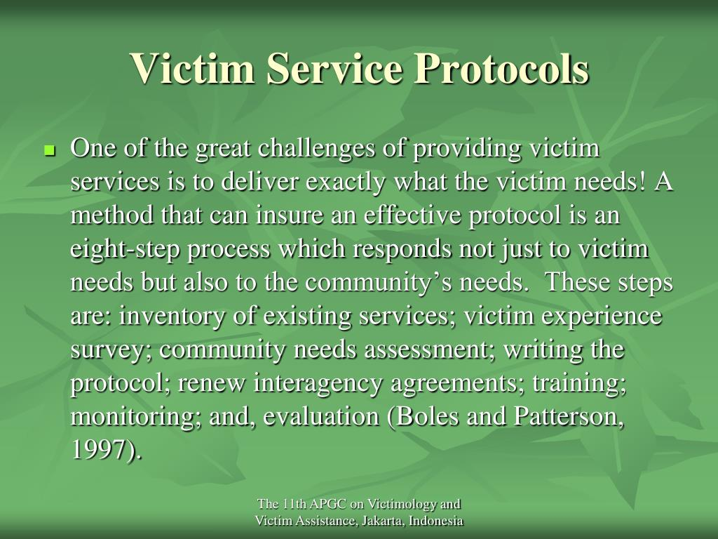 Victim Service Protocols