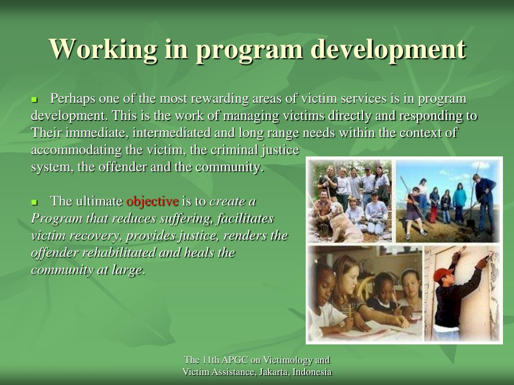 Working in program development