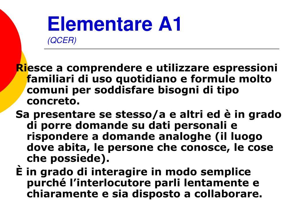 Elementare A1