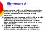 elementare a1 qcer