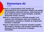 elementare a2 qcer