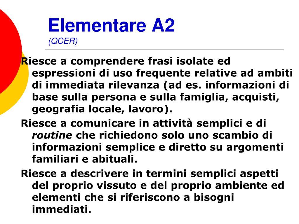 Elementare A2