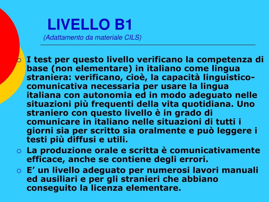 LIVELLO B1
