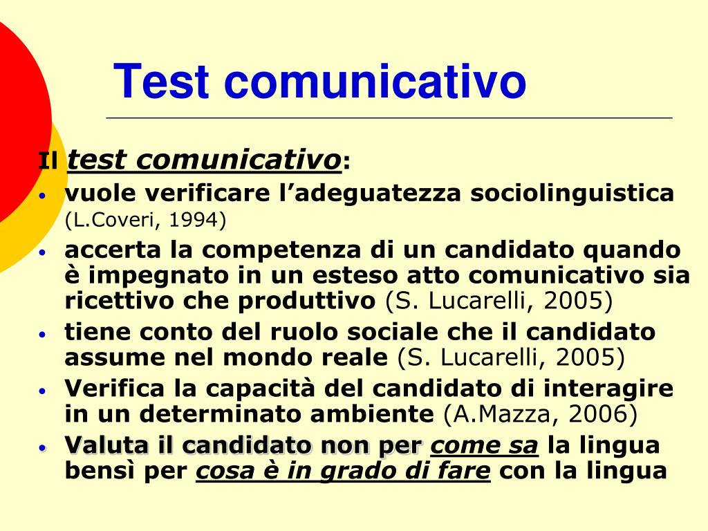 Test comunicativo