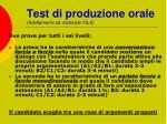 test di produzione orale adattamento da materiale cils
