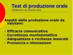 test di produzione orale adattamento da materiale cils37