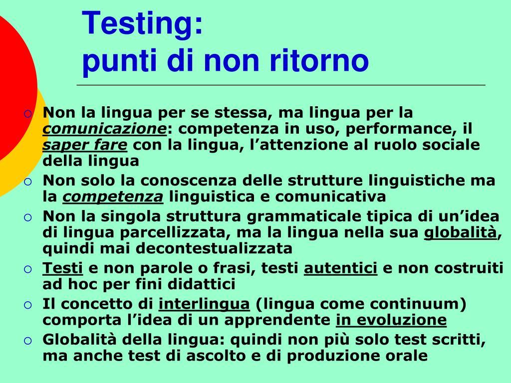 Testing: