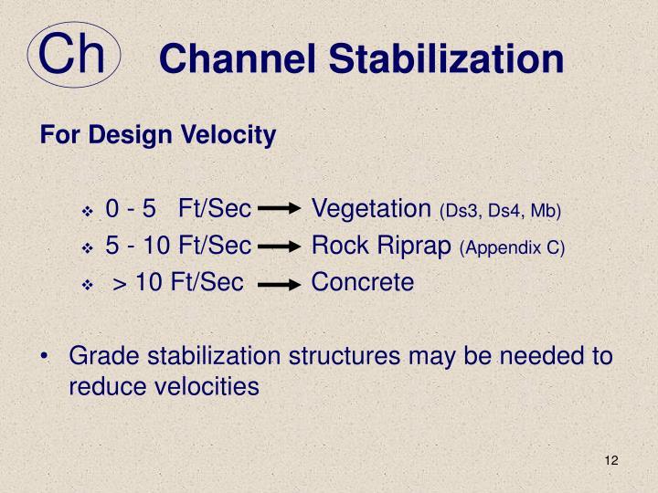Channel Stabilization