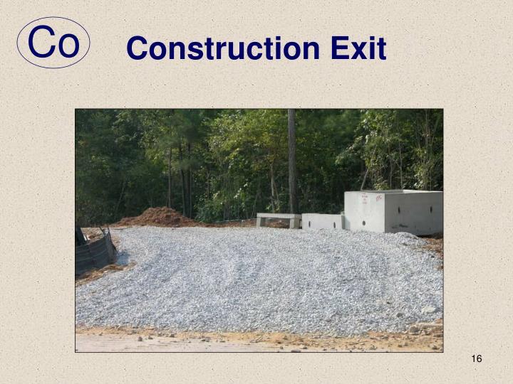 Construction Exit
