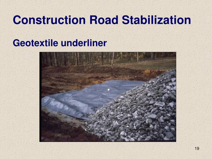 Construction Road Stabilization