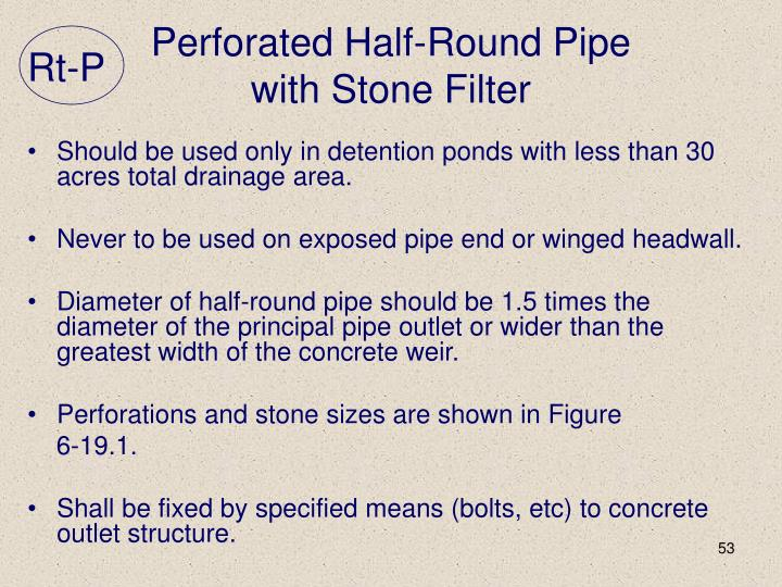 Perforated Half-Round Pipe