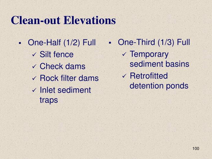 Clean-out Elevations