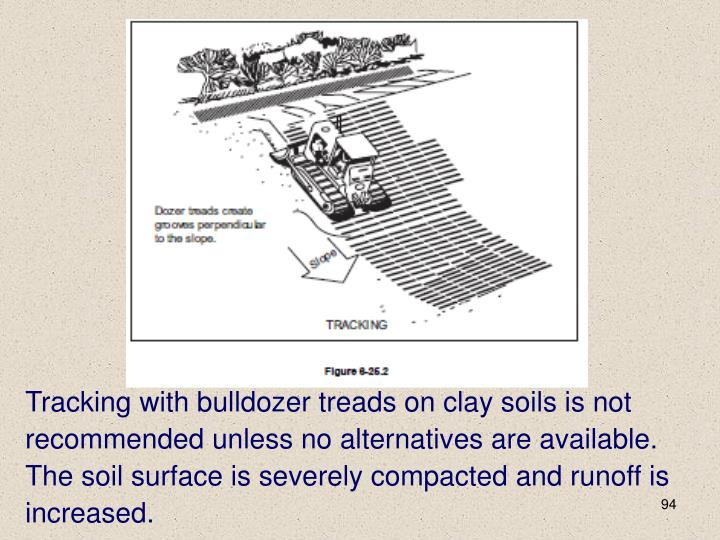 Tracking with bulldozer treads on clay soils is not