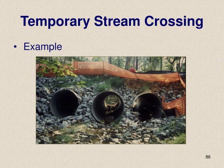 Temporary Stream Crossing