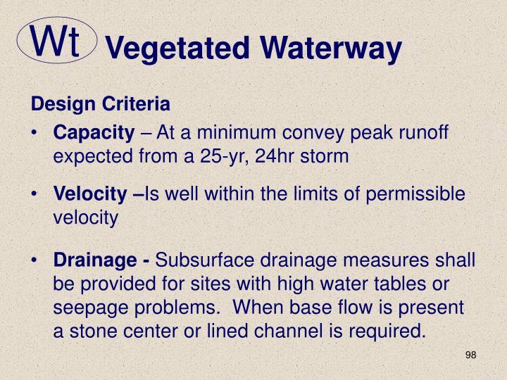 Vegetated Waterway