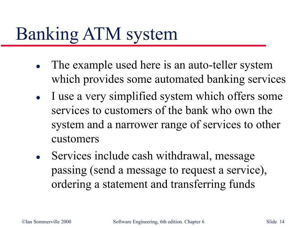 Banking ATM system