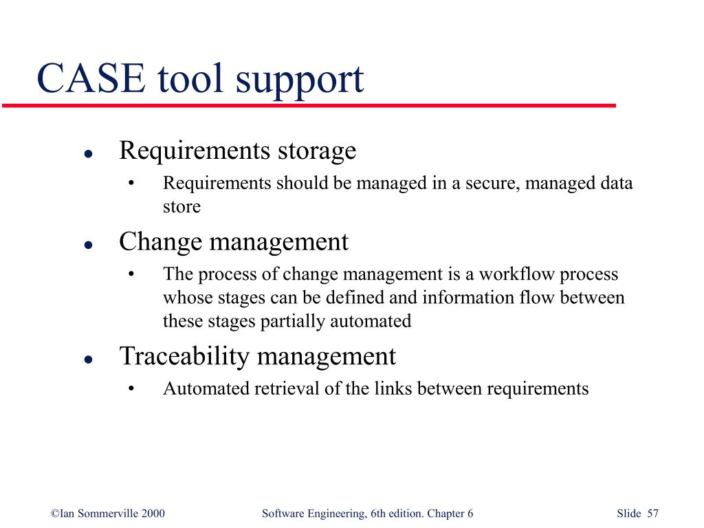 CASE tool support