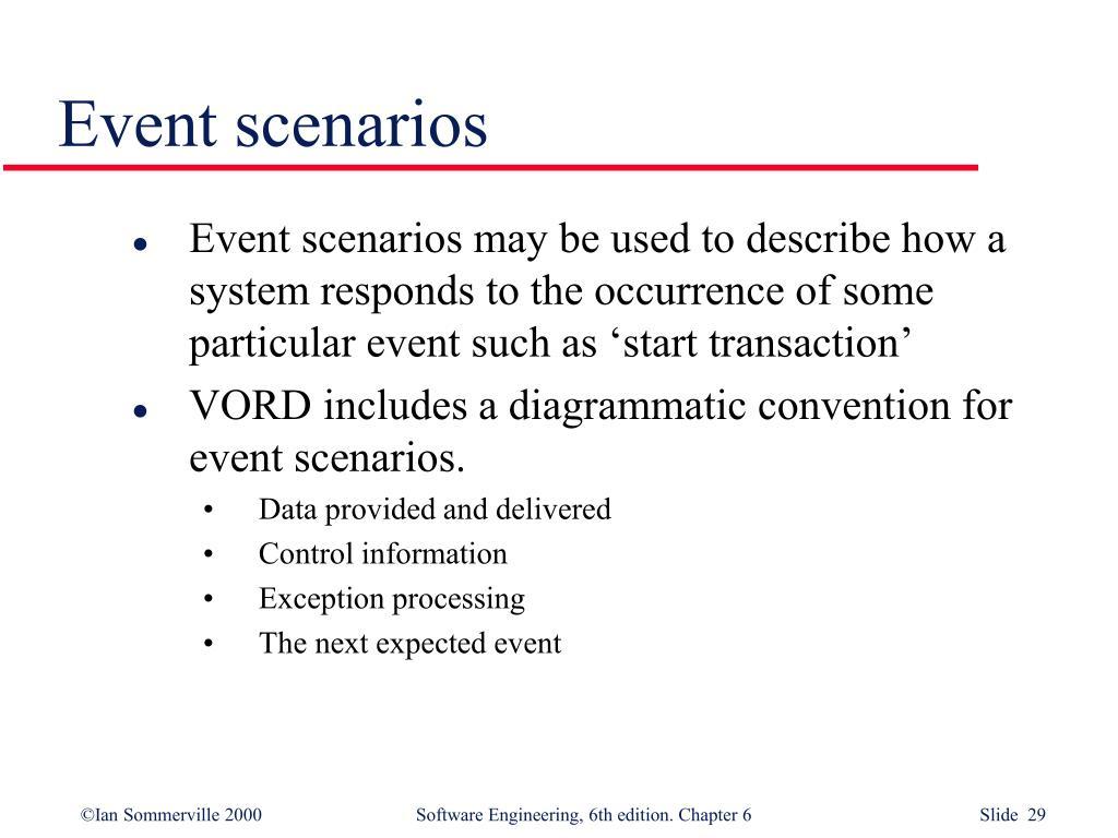 Event scenarios