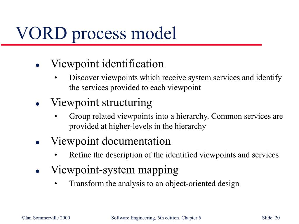 VORD process model
