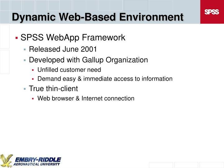 Dynamic Web-Based Environment