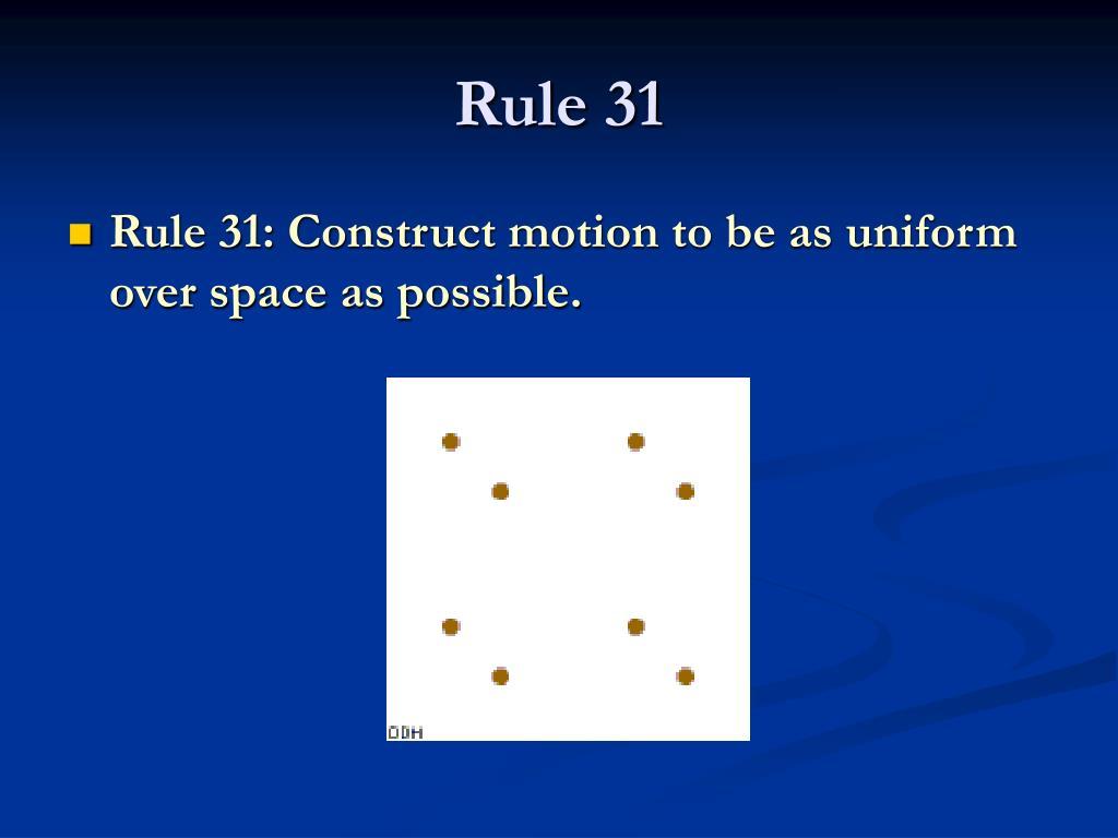 Rule 31