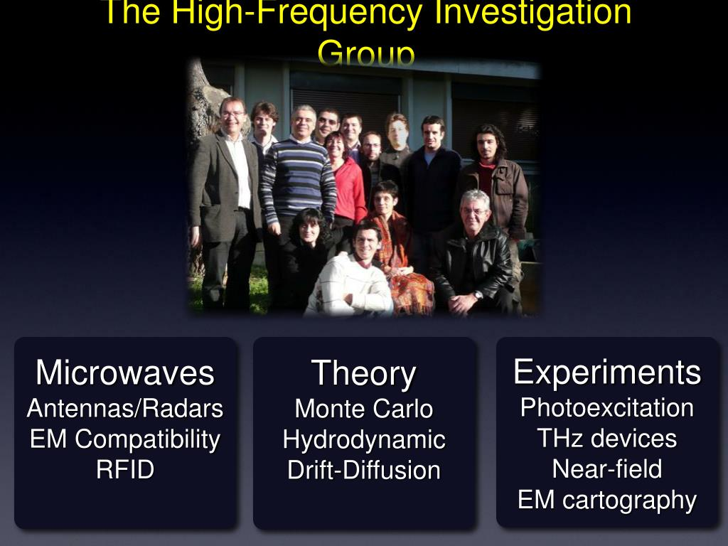 The High-Frequency Investigation Group