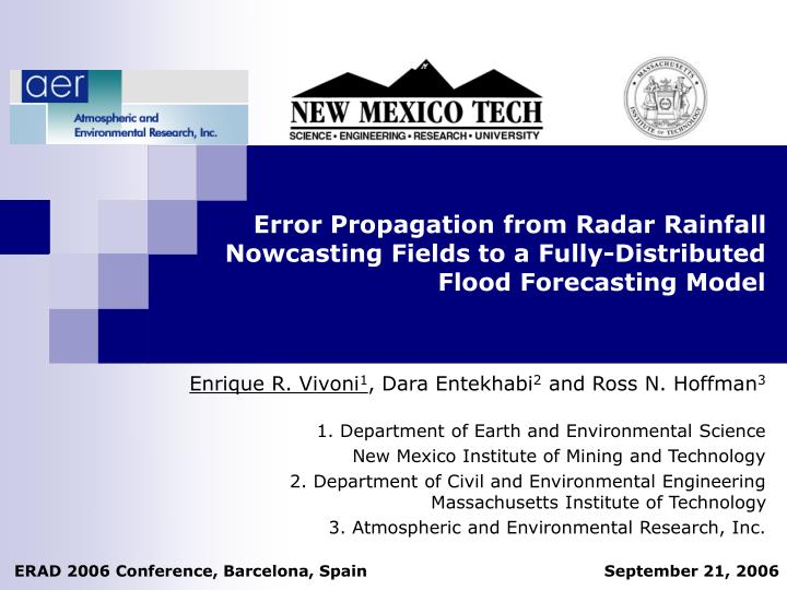Error Propagation from Radar Rainfall Nowcasting Fields to a Fully-Distributed Flood Forecasting Mod...