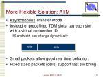 more flexible solution atm