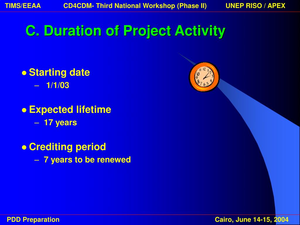C. Duration of Project Activity