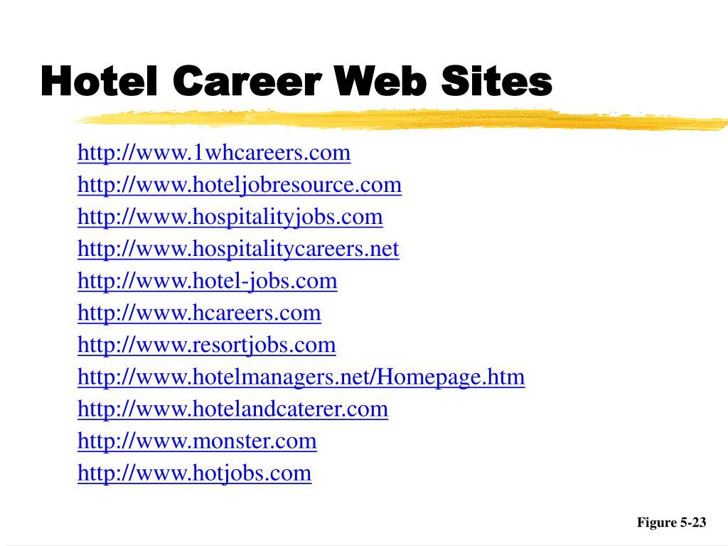 Hotel Career Web Sites