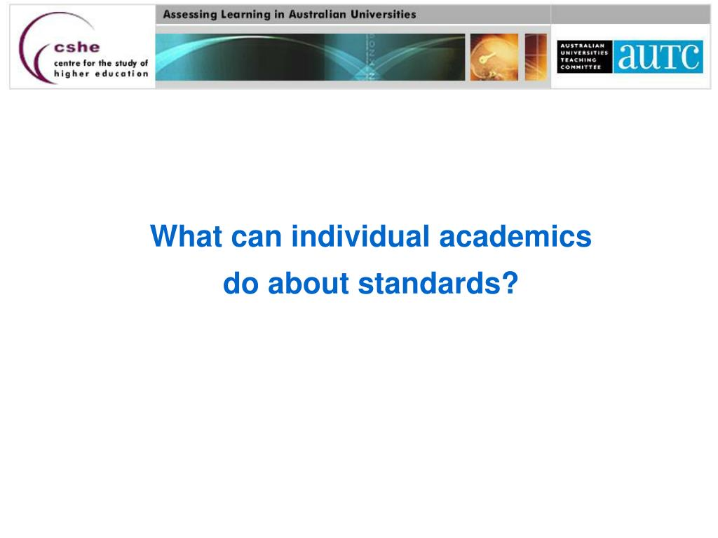 What can individual academics
