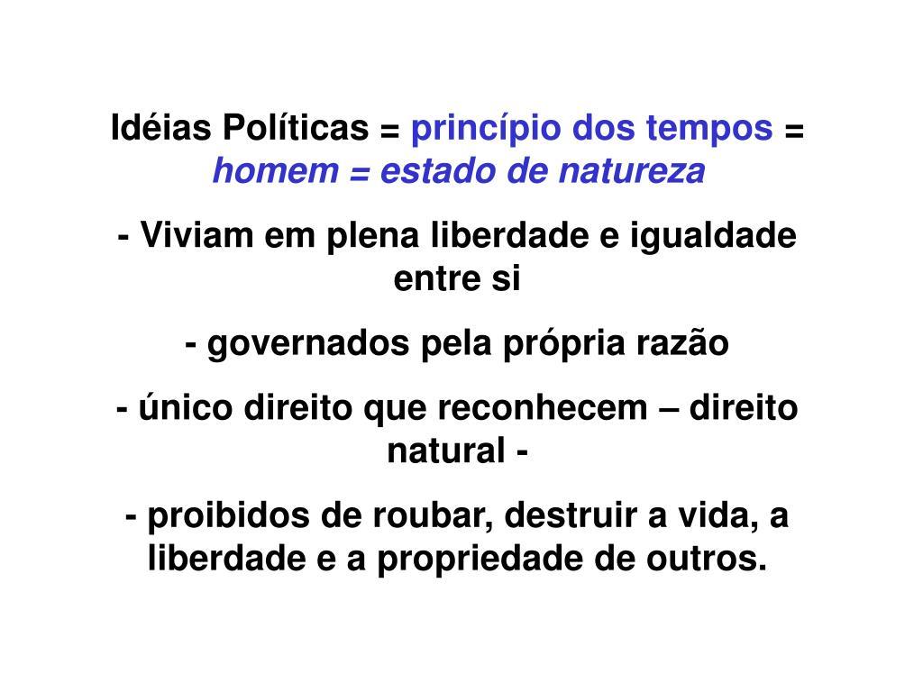 Idéias Políticas =