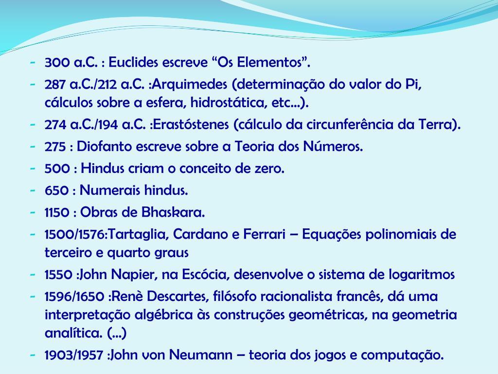 300 a.C. : Euclides
