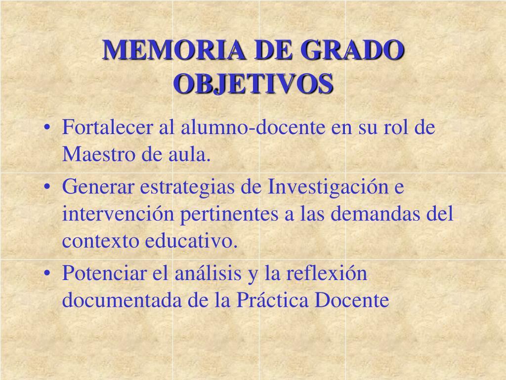 MEMORIA DE GRADO