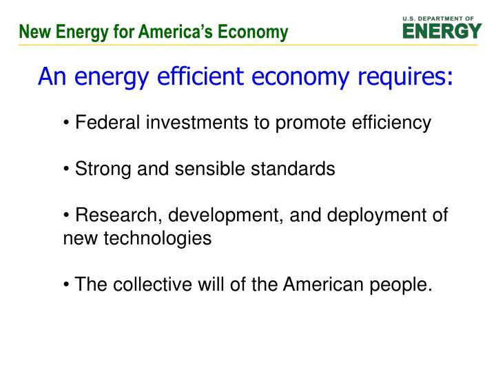 New Energy for America's Economy