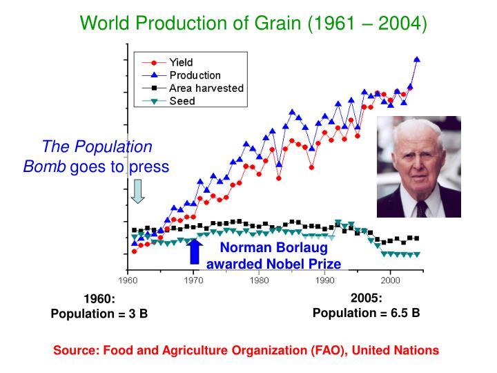 Norman Borlaug awarded Nobel Prize