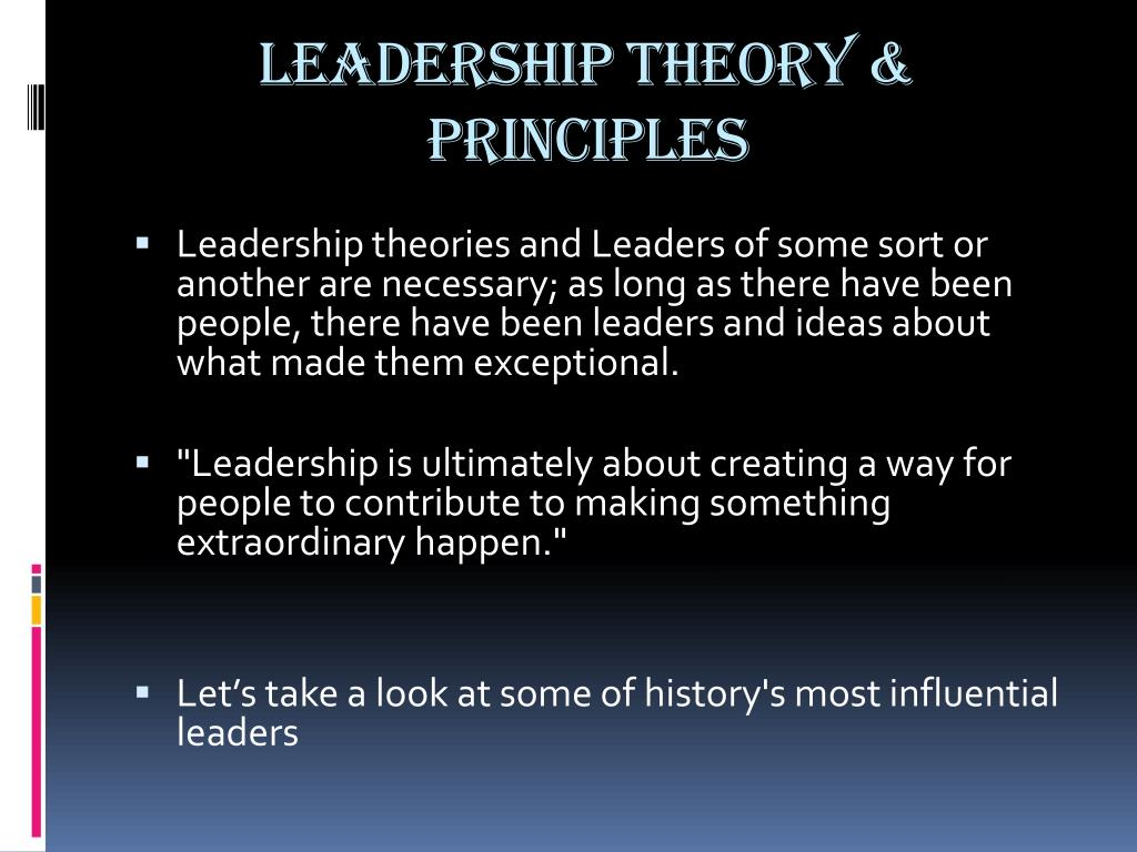 leadership theories and principles Most cited the leadership quarterly articles  a systematic review and research agenda of implicit leadership and followership theories volume 25,.