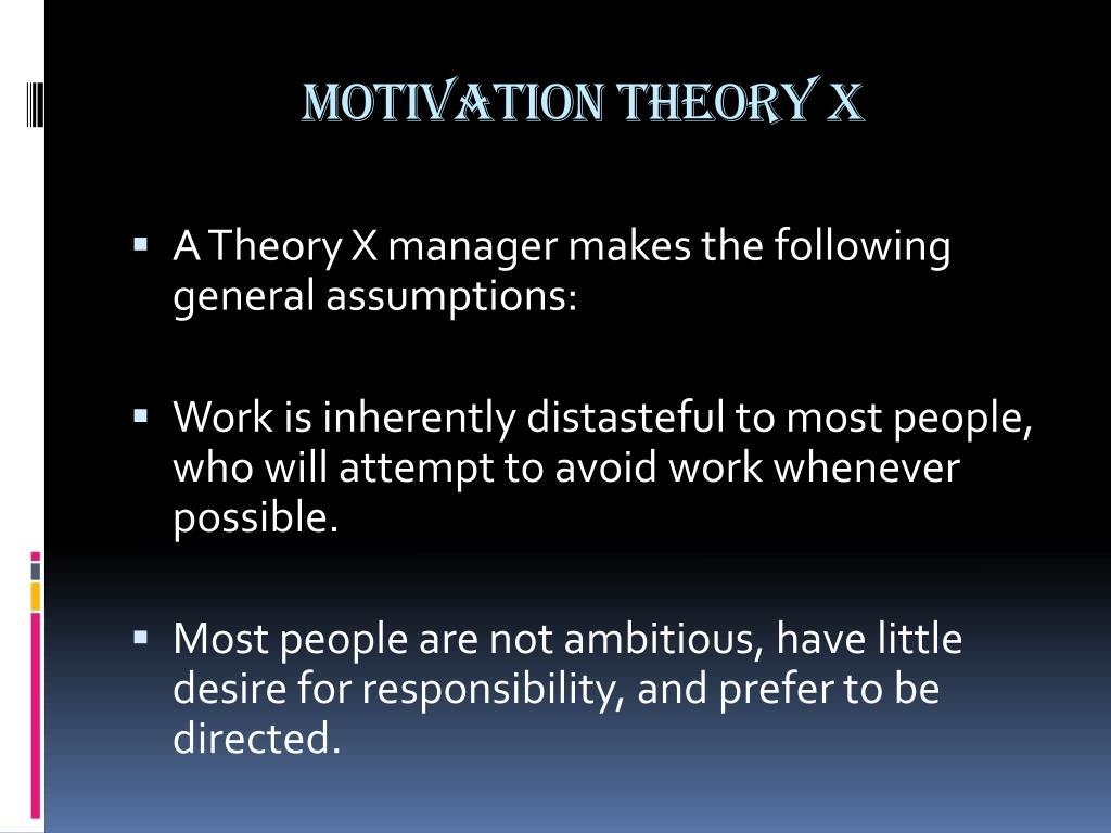 motivational theory management